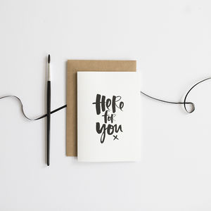 'Here For You' Card - sympathy & sorry cards