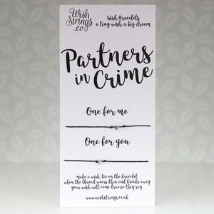 'Partners In Crime' Duo Star Wish Bracelet