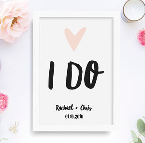 I Do Personalised Wedding Print - 100 best wedding prints