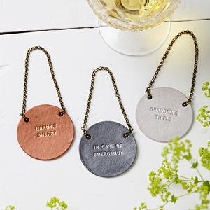 Personalised Metallic Bottle Tag - wedding stationery