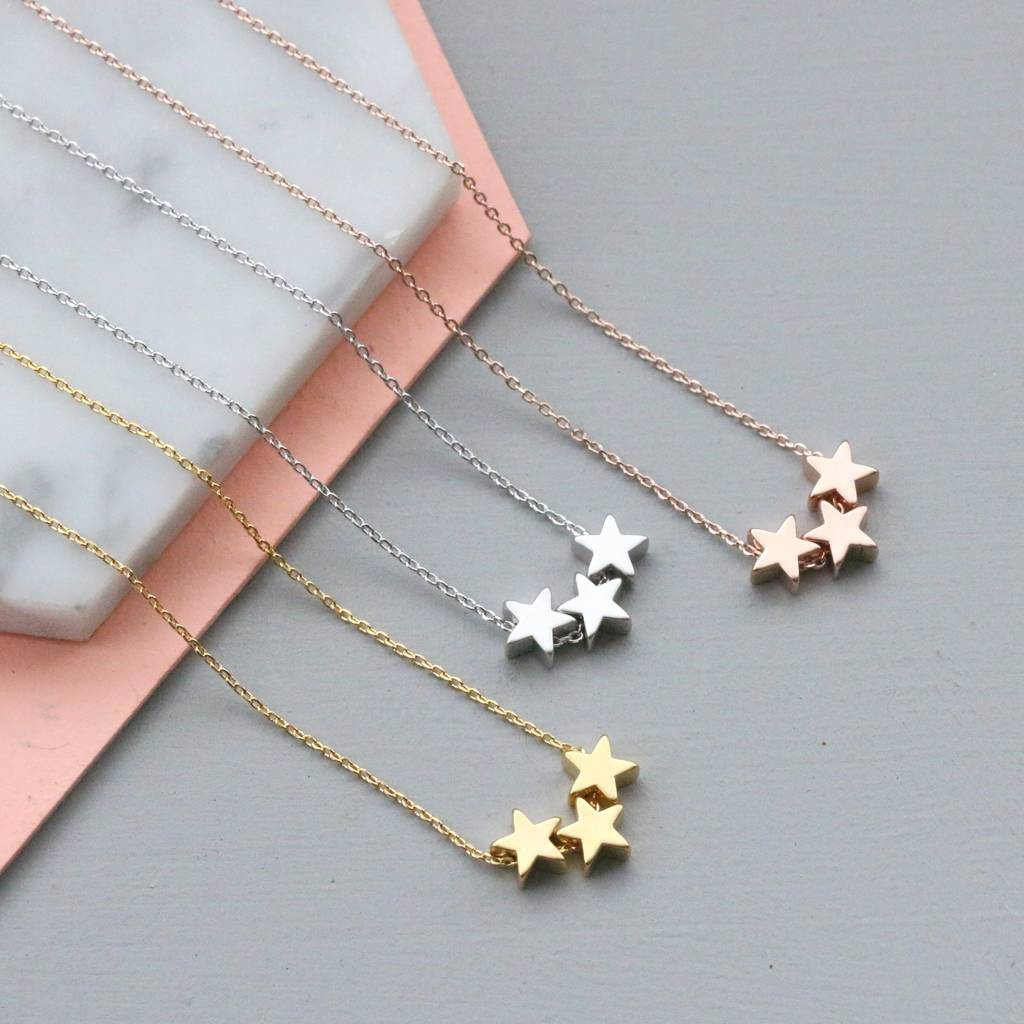 necklace aldia star silver products cz point