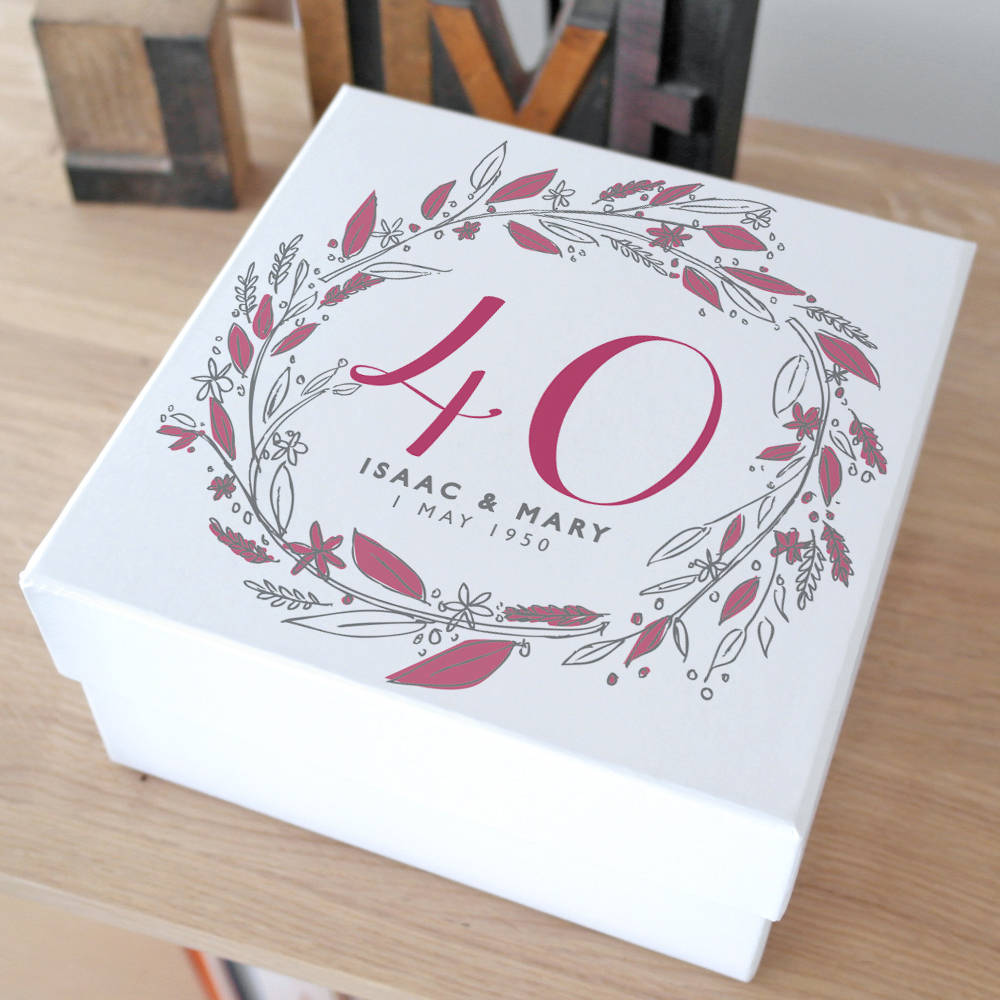 personalised anniversary keepsake gift box by letterfest ...