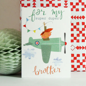 Aeroplane Brother Greetings Card