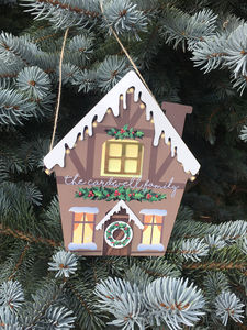 Personalised Gingerbread House Christmas Decoration