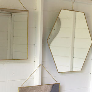 Brass Mirror Assorted Shapes - home sale
