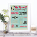 Reasons You Are Amazing… Personalised Print For Her