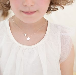 Mini My Lucky Star Personalised Sterling Necklace - children's jewellery