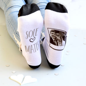 Sole Mates Personalised Photo Socks