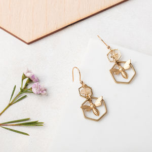 Honey Bee Earrings - earrings
