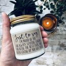Personalised 'Just To Say…' Handmade Soy Candle