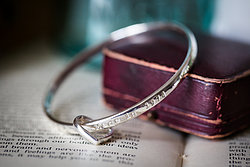 This is my most popular product, a stunning solid personalised silver bangle with a heart charm