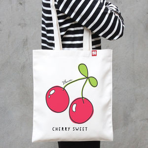 Personalised Cherry Sweet Tote Bag