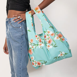 Floral 100% Recycled Plastic Reusable Bag