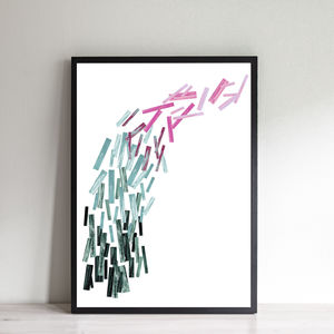Contemporary Abstract Rainbow Print