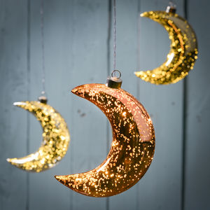 Light Up Sparkle LED Hanging Moon - lighting