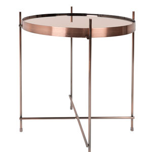 Tempered Glass Copper Side Table - children's room