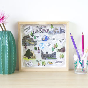 The 'Little Map Of Edinburgh' Illustrated Print