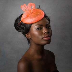 Coral Wedding Fascinator - hair accessories