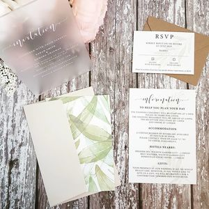 Perspex Wedding Stationery The Laurel Collection