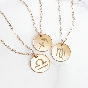 Reversible Personalised Zodiac Necklace 14 K Gold Fill - what's new