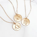 Reversible Personalised Zodiac Necklace 14 K Gold Fill