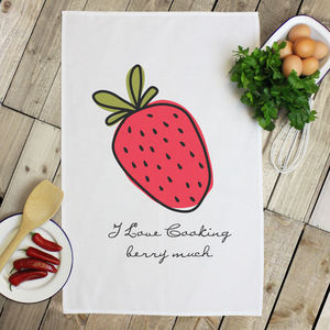 Personalised 'Fruit' Tea Towel