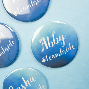 Personalised Blue Hen Party Badges