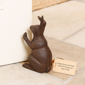 Cast Iron Rabbit Doorstop
