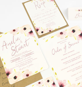 Floral Wedding Collection - invitations