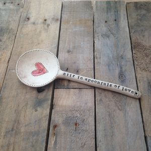 Ceramic 'Love' Spoon