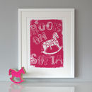 Personalised 'Rock On' Folk Print