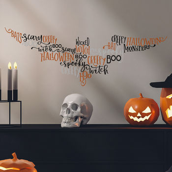 Creepy Bat Halloween Wall Stickers