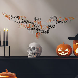 Creepy Bat Halloween Wall Stickers - party decorations