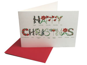 Happy Christmas Card Twine Tied Pack Of Six