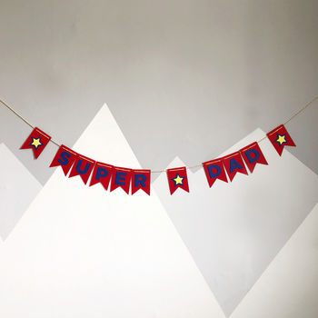 Super Dad Father's Day Bunting banner