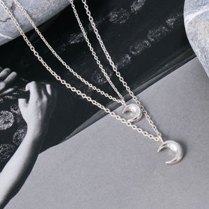 Double Chain Luna Necklace