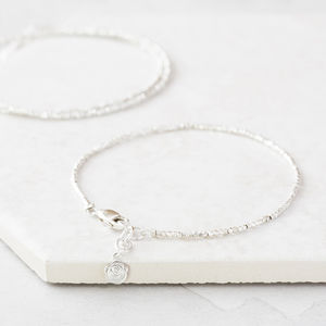 Tiny Silver Nugget Bracelet - for her