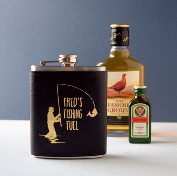 Personalised Fishing Fuel Hip Flask