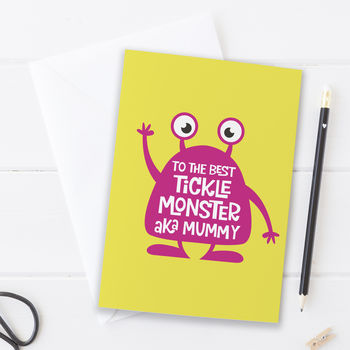 Mother's Day Tickle Monster Card