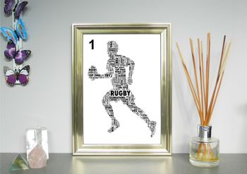 Rugby Player Or Ball Personalised Print