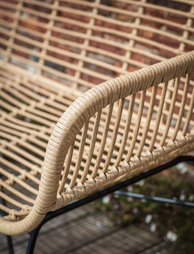 Bamboo Wrapped Double Garden Bench By The Forest Amp Co