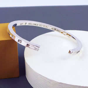 Men's Contemporary Premium Sterling Silver Bangle - bracelets