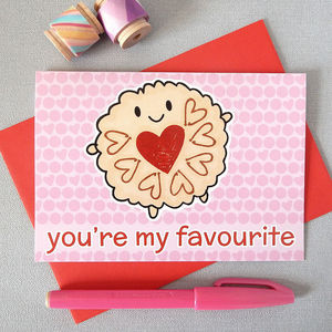 Jammie Dodger 'You're My Favourite' Card