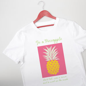 'Be A Pineapple' Girl's T Shirt - t-shirts & tops