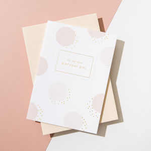 'Hey There Birthday Girl' Card, Vellum White Envelope