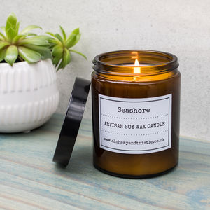 Seashore Pharmacy Jar Soy Candle - candles & home fragrance