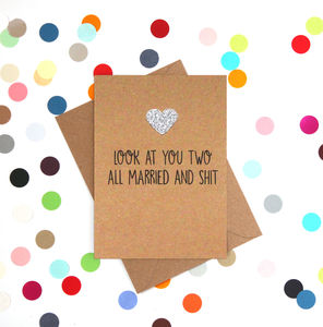 'Look At You Two' Funny Wedding Card - shop by category