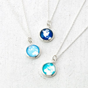 Tiny Globe Necklace - necklaces & pendants
