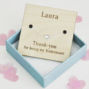Thank You Bridesmaid Personalised Heart Bracelet