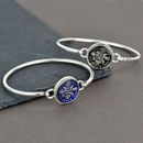 Sterling Silver Sixpence Enamel Coin Bangle